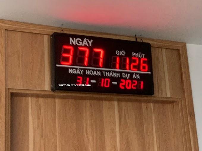 Đồng hồ Led treo tường đếm ngược ngày dự án - Lắp Công Ty Hà Nội