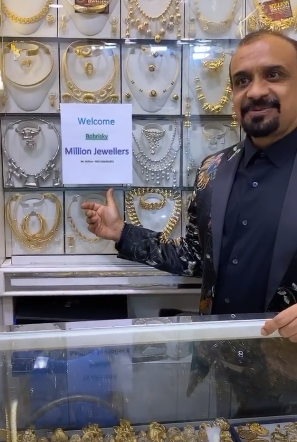 Bobrisky spends N6 million in Dubai, gets special recognition for being a first class customer a Jewelry Store