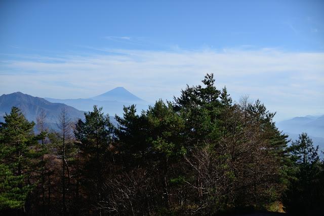天の河原から富士山