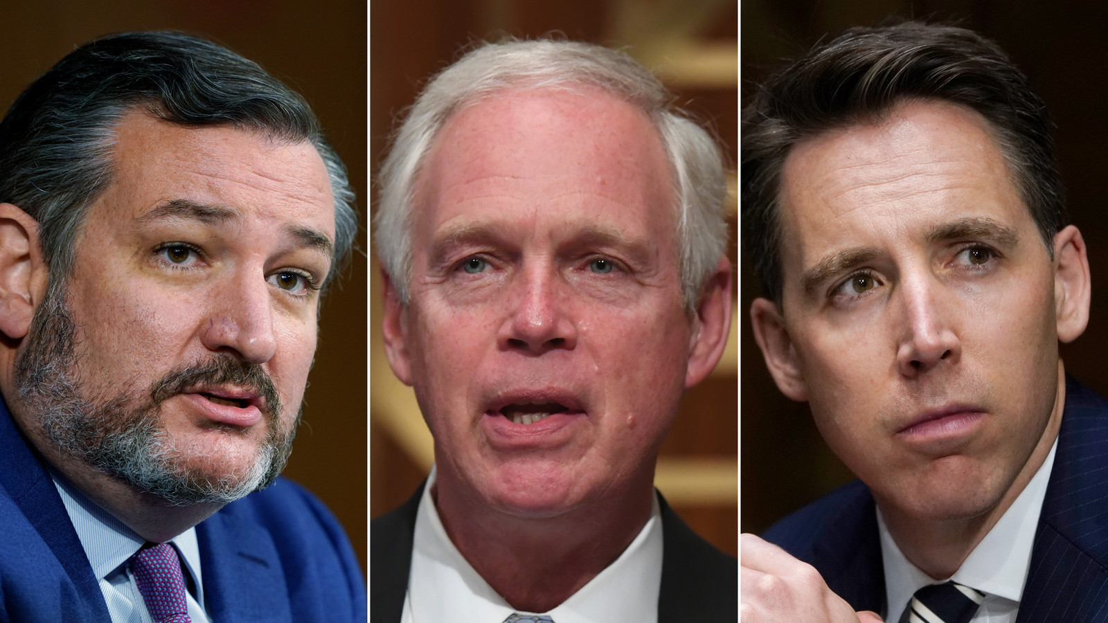 Pictured 3 Republican senators should be kicked off committees and possibly expelled for supporting Trump and inciting Capitol Hill mob violence - Democrat Senator suggests