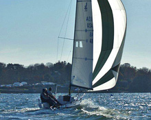 J/70 sailing off Marblehead