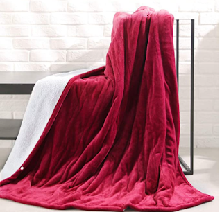 Red Heated Blanket for warmth