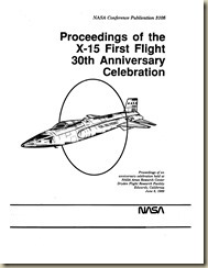 North American X-15 First Flight 30th Anniversary Proceedings