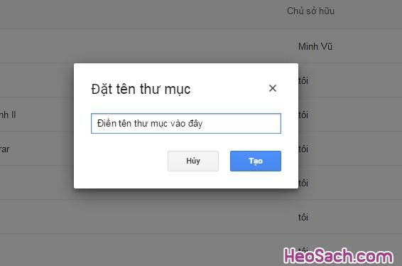 Hình 6 - Hướng dẫn sử dụng Google Drive để lưu dữ liệu