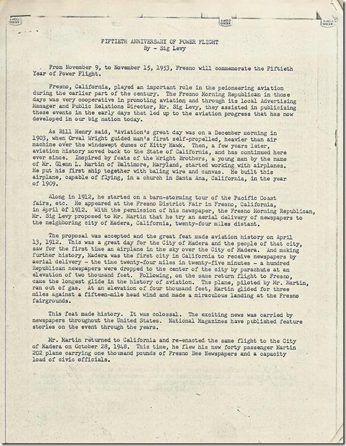 Fiftieth Anniversary of Power Flight page 1