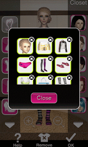 Click to Enlarge - Style Me Girl Level 66 - Stripes - Annie - Closet Items 1
