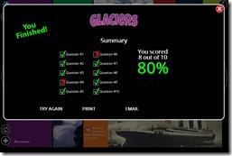 Glacier Quiz Results