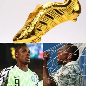 Photo: AFCON GOLDEN BOOTS AWARD TO NIGERIANS Nigeria's Odion Jude Ighalo is the Super Eagles top Striker. He is however the highest goal scorer in just concluded African Cup of Nation (AFCON). Ighalo becomes the second Nigerian player (in the Super Eagles), after late Rashidi Yekini to have won the golden boots award at the AFCON. Congrats Ighalo