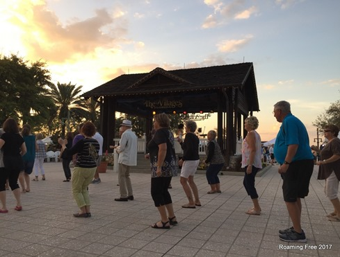 Line Dancing at sunset