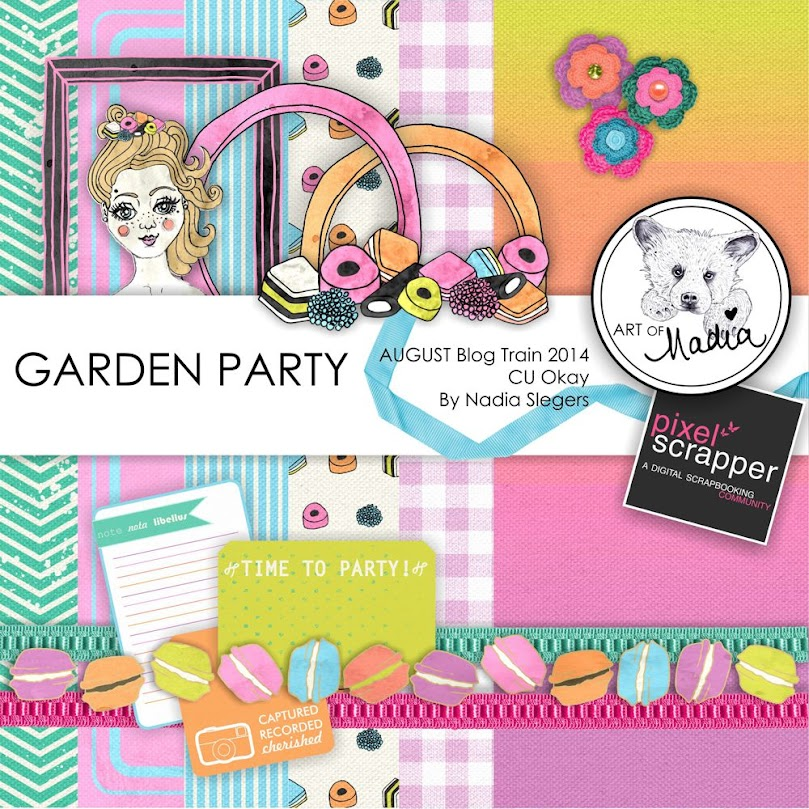 "Free scrapbook ""Garden Party"" from Art of Nadia {CU}"