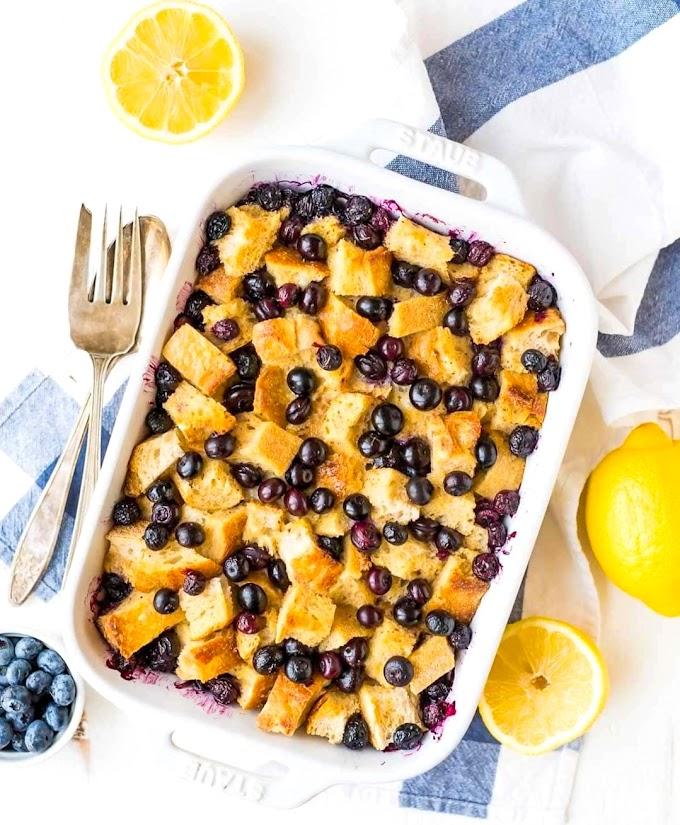 Lemon Blueberry French Toast Bake Recipe   Breakfast Care