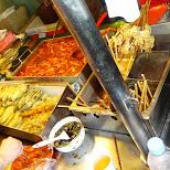 fried street food in Hongdae in Seoul, Seoul Special City, South Korea