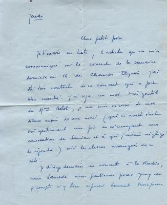 Lettres à Son Père à Sa Sœur Tinon Roger Désormière