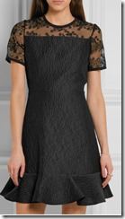 Carven Organza panelled cloque dress