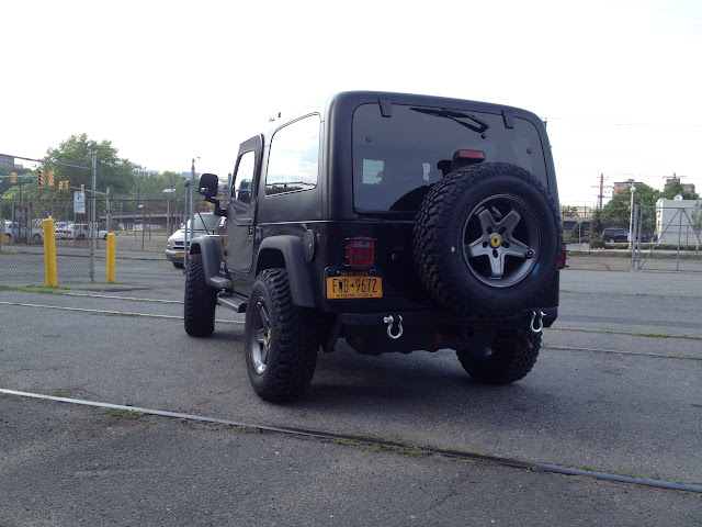 AEV Pintler backspacing on the LJ - JeepForum com