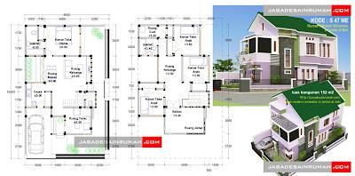 rumah modern minimalis 2 lantai di bali | jasa desain rumah
