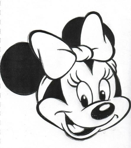 Máscara de Minnie para colorear