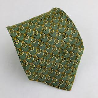 *CLEARANCE* Hermès Green Loop Tie