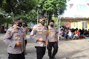 Kapolres Soppeng Pantau Langsung Vaksinasi Serantak Yang di Laksanakan di Kel Botto Kab Soppeng