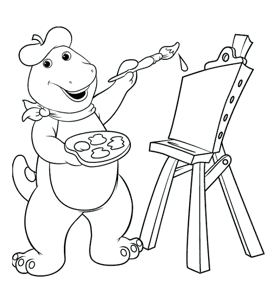 Dibujos para colorear de Barney ~ Portal de Manualidades