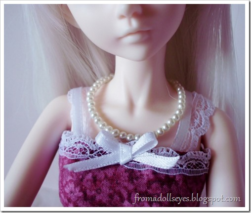 A Doll's Birthday, Or it Was: Doll Sized Jewelry: Pearl Necklace