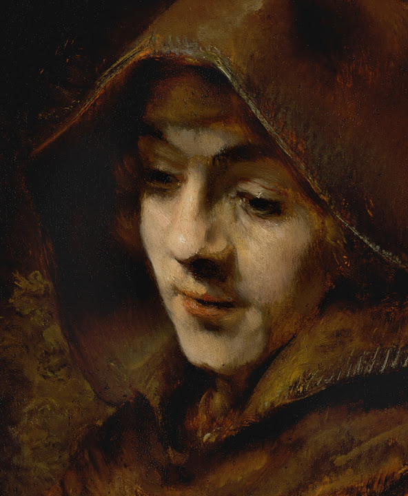 rembrandt, titus, monk, 1660, face, looking down, hariberth, dreaming, thinking