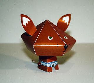 Tighty Whitey Fox Paper Toy