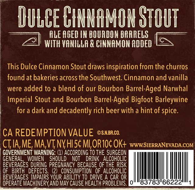 Sierra Nevada Adding NEW Dulce Sinnamon Stout Bottles