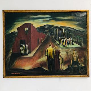 Martin Rosenthal Signed Surrealist Scene Oil