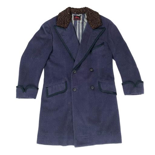 Brioni Roma Vintage Fur Collar Top Coat