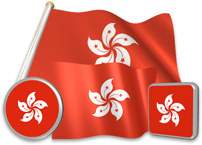Hong Kong flag animated gif collection