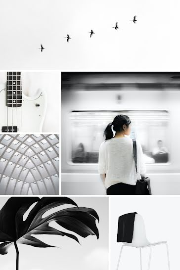 Modern Collage - Pinterest Pin Template