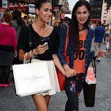 WWW.ENTSIMAGES.COM -   Sophia Sassoon and her sister Zara  leaving      Itsie Bitsie - fashion show at The Penthouse, 1 Leicester Square, London July 17th 2013                                                  Photo Mobis Photos/OIC 0203 174 1069