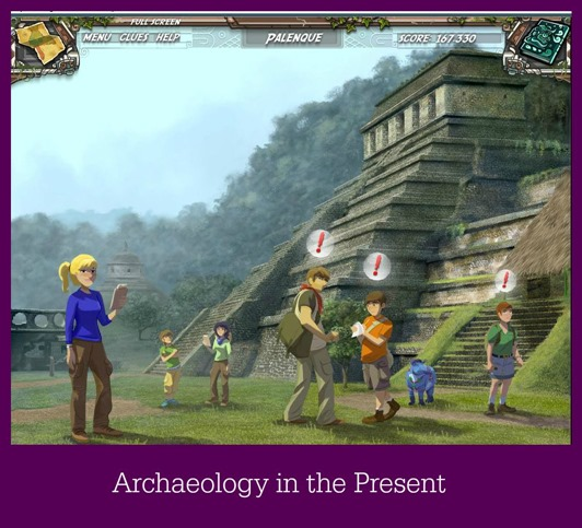Working On A Site In The Present ~ Mayan Mysteries game review at Circling Through This Life