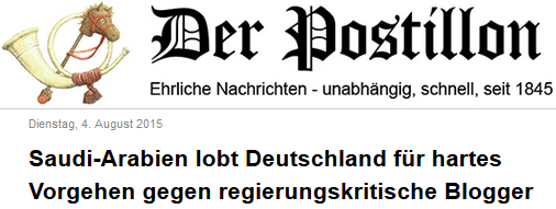 Saudi-Arabien lobt Deutschland für hartes Vorgehen gegen regierungskritische Blogger