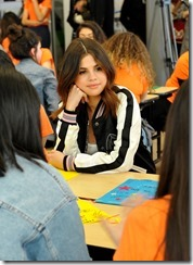 LOS ANGELES, CA - MARCH 23:  Selena Gomez and Coach Surprise Step Up Teens at High Schools on March 23, 2017 in Los Angeles, California.  (Photo by Donato Sardella/Getty Images for Coach)