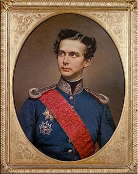 Retrato del joven Luis. Cuadro al óleo de Wilhelm Tauber, 1864