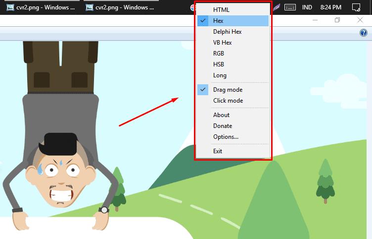 Instant Eyedropper - Software Windows untuk Mengetahui Kode Warna HTML, HEX, RGB, HSL..