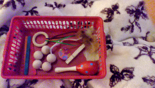 fine motor skills treasure basket