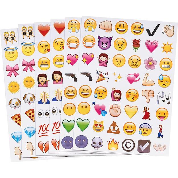 Pc Fun Cute Lovely Emoji Sticker  Die Cut Emoji Smile Face Vinyl  Sticker For Iphone Laptop Tablet Decor Twitter Instagram