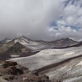 Glaciers de l'Elbruz à 3700 m (Terskol, Kabardino-Balkarie), 13 août 2014. Photo : J. Marquet
