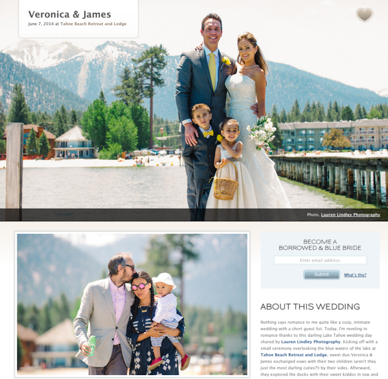 Tahoe Beach Wedding by Lauren Lindley