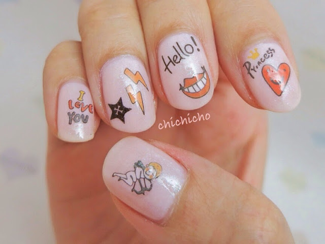Loving You Water Decal Nail Art
