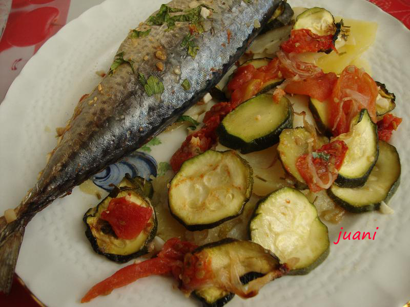 Las cosillas que hago caballas asadas en microondas - Cocinar pescado en microondas ...