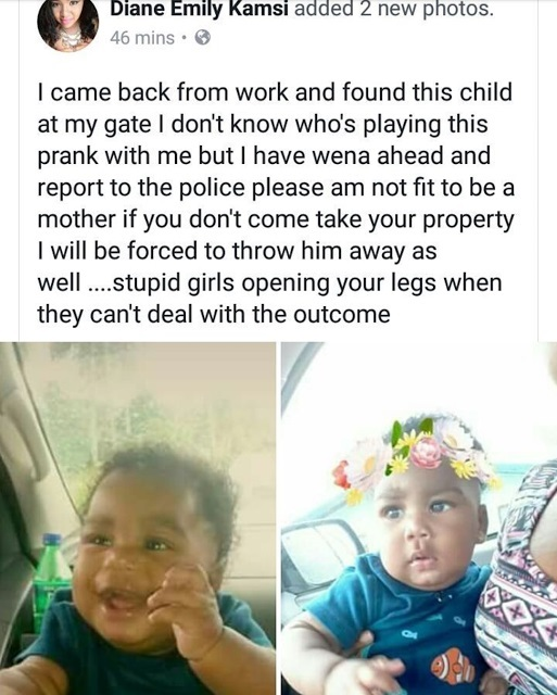 """""""Come And Take Your Baby Or I Will Throw Him Away"""" – South African Based Nigerian Lady Rants After Finding Unknown Baby At Her Gate."""