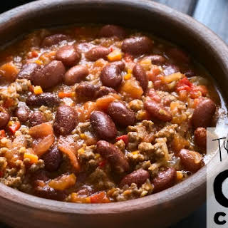Texas Chili con Carne (chili with meat).