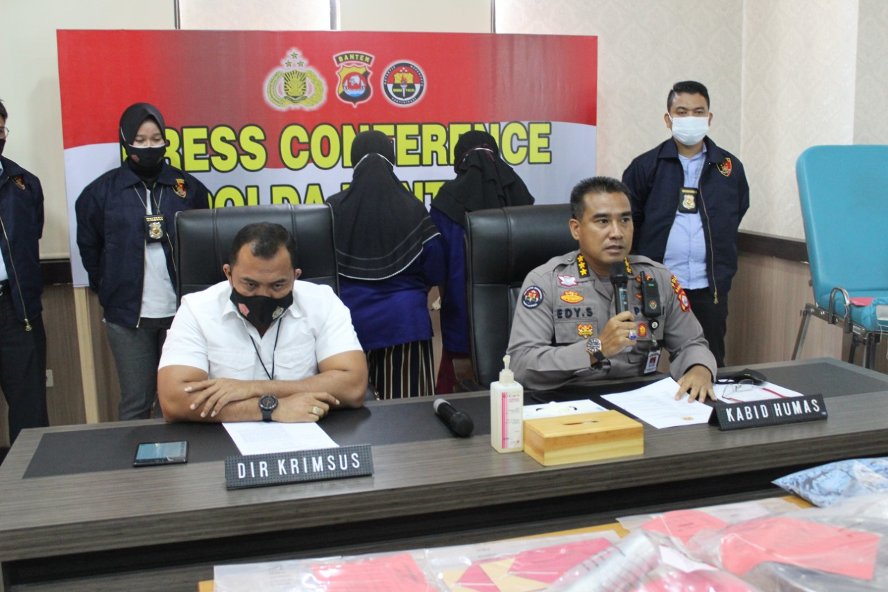 Dit reskrimsus Polda Banten, Berhasil Amankan 3 Orang Pelaku Praktik Aborsi Illegal