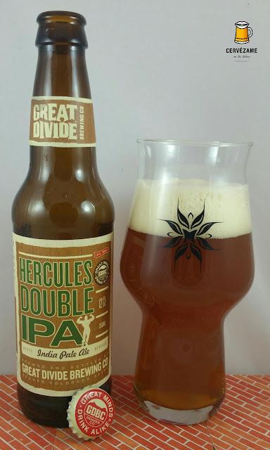 cerveza beer Great Divide Hercules Double IPA cervezame