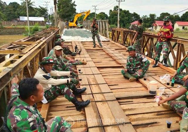 Sempat Ambruk Jembatan Pabahanan Pelaihari Sudah Bisa Dilalui