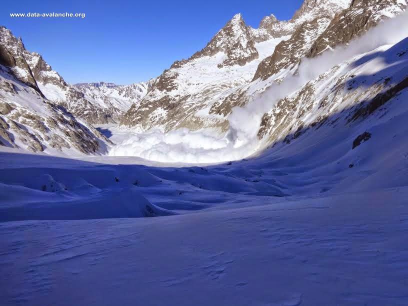 Avalanche Mont Blanc, secteur Glacier de Pierre Joseph, secteur du refuge de Leschaud - Photo 1